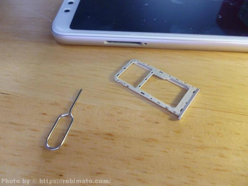 Xiaomi Redmi 5 SIMスロット
