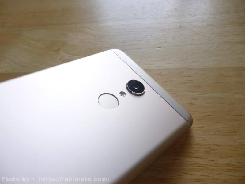 Xiaomi Redmi 5 カメラの見た目
