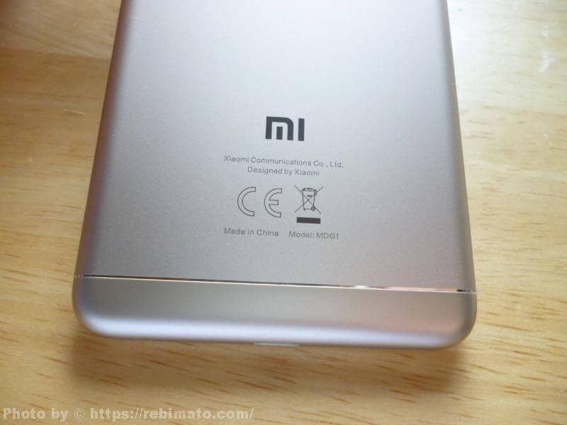 Xiaomi Redmi 5 メーカーロゴ