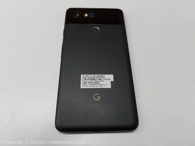 Google Pixel 2 XLスマートフォン裏面