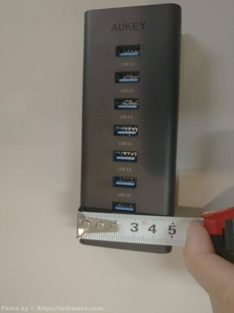 AUKEY USB3.0ハブ CB-H3 縦幅