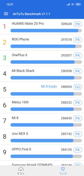 Xiaomi Mi 8 Explorer Edition レビュー Antutuスコア