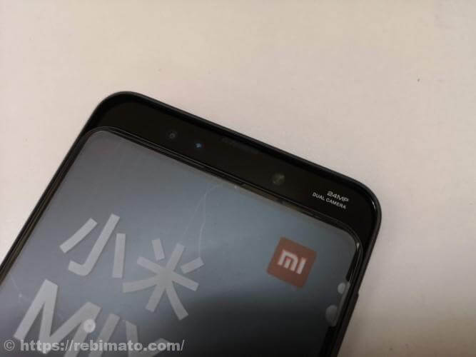 Xiaomi Mi Mix3スマートフォンの外観