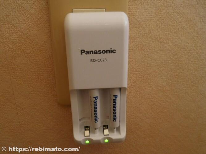 パナソニック 単3形・単4形充電式電池専用急速充電器 BQ-CC85